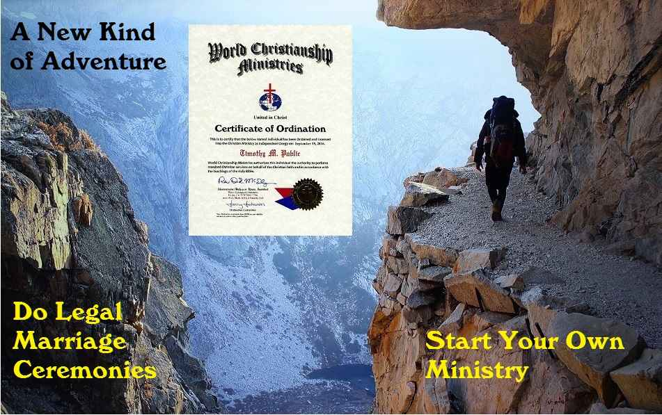 ordination certificate adventure