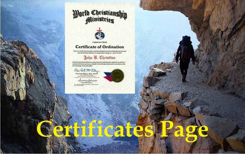 certificate page adventure