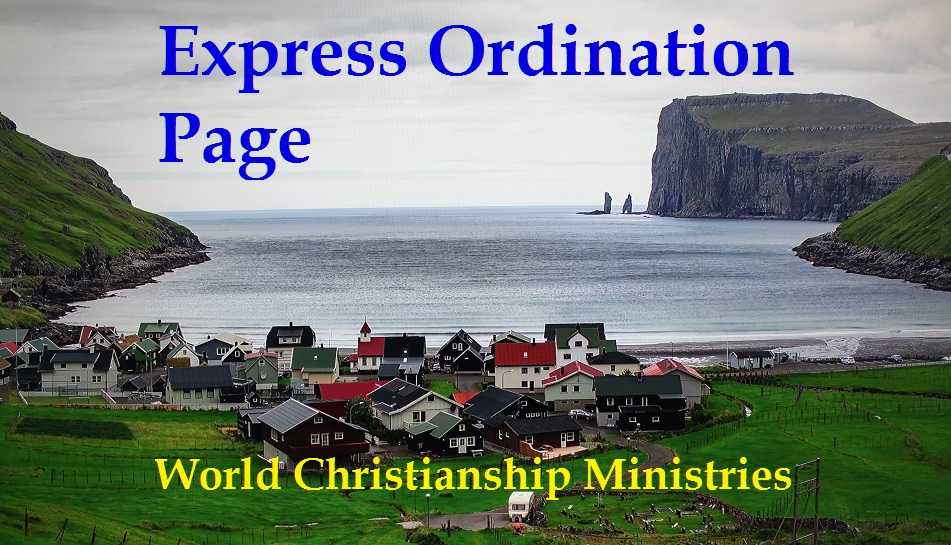 express ordination page