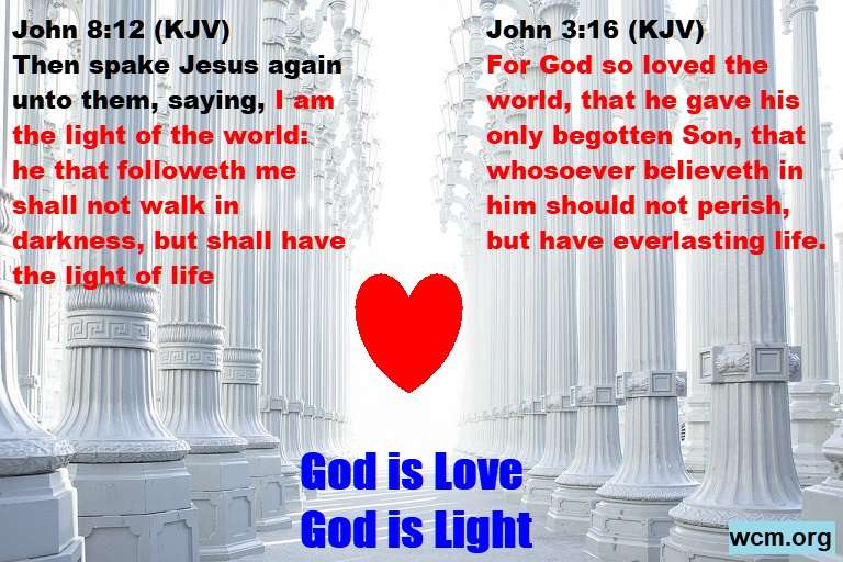 colums god is light love